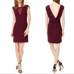 Aritzia Babaton Rylan Mini Dress Wine Red Sz 8